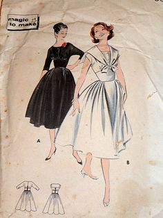 Rare Vintage 1950's Butterick 8420 Sewing by MemoryMadeMercantile, $30.00