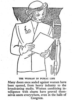 Women combining intelligence with charm have proved themselves assets everywhere. Pictorial Medical Guide, 1953