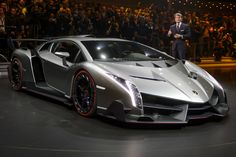 Italian carmaker Lamborghini introduced its Veneno supercar, a 750-horsepower beast whose $3.9 million price tag immediately makes it one of the most expensive cars ever produced.