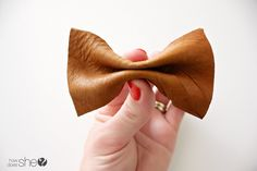 Leather Hair Bow Tutorial | How Does She