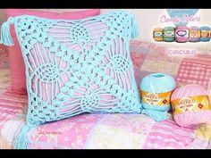 Almofada Crochê Ponto Abacaxi Candy Colors - Simone Eleotério - YouTube