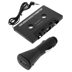 GTMax Black USB Car Charger Adapter + Black Car Stereo Audio Cassette Tape Adapter for Verizon CMDA & AT GSM Apple Iphone 4G , Ipod Touch iTouch 4G 4th , Apple Ipod Classic 160GB 120GB 80GB $0.24