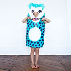 Panthero Paper Costume by OMY Design  Play   Luna  Curious Fancy Dress For Kids, Kids Dress Up, Play Dress, Mardi Gras, Costumes Faciles, Panther Costume, Christmas Presents For Kids, Kids Presents, French Kids