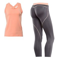 WR.UP® SHAPING EFFECT DIWO® SPORT 7/8 + TANK TOP - GREY & CORAL