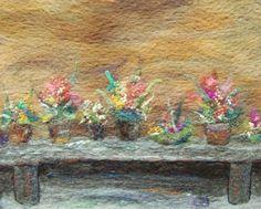 No.156 Pots Bench - Needlefelt Art