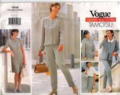 Vogue Sewing Pattern 1916 Tamotsu Jacket Dress Top Skirt & Pants Size 8-10-12 UC #VoguePatterns