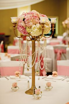 We have several lamps that look like this.  we can drape pearls and do flowers and it'll look great :)