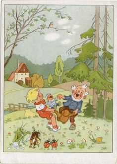 AK - Künstlerkarte - FRITZ BAUMGARTEN - ZWERG - KIND & INSEKTE - Unbenutzt | eBay