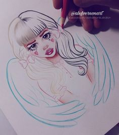 🍬~Alefvernonart~The Best Melanie Martinez FanArt! Melanie Martinez Style, Melanie Martinez Drawings, Crybaby Melanie Martinez, Cute Drawings, Drawing Sketches, Celebrity Drawings, Cry Baby, Drawing Reference, Cartoon Art
