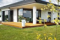 Projekt domu Dom w bodziszkach Realizacje - ARCHON+ Bungalow House Design, Modern House Design, Farmhouse, Outdoor Decor, Projects, Home Decor, Country Homes, Kitchen Modern, House
