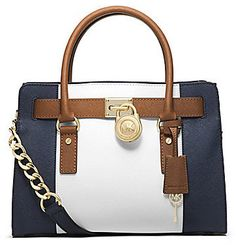 73d04aaee3 MICHAEL Michael Kors Colorblocked East West Satchel on shopstyle.com ขายของ Michael  Kors