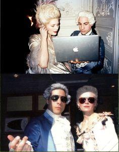 Kirsten Dunst and Jason Schwartzman behind the scenes, Marie Antoinette
