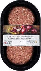 Finest Beef Burgers with Caramelised Onion