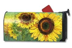 Magnet Works Sunny Days Sunflowers Original Magnetic Mailbox Wrap Cover