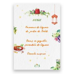 Custom wedding menu design We create custom illustrations for your wedding. We design everything fro