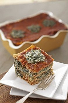 Tofu spinach lasagna recipe from The Vegan Table
