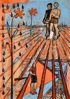 "Saatchi Art Artist Borai Kahne Ateliers; Painting, ""Fassungslos"" #art"