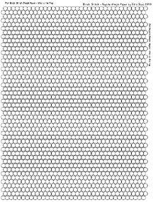 Brick Stitch or Flat Peyote Graph Paper by Rita Sova