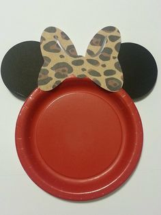 Minnie Mouse Birthday Party Cake Plates Red by FantasiaForever, $7.00