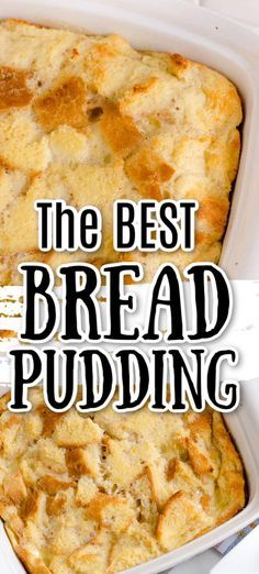 Best Bread Pudding Recipe, Easy Pudding Recipes, Bread Pudding With Apples, Chocolate Bread Pudding, Baking Recipes, Easy Bread Pudding, Blueberry Bread Pudding, Chocolate Chips, Easy Desserts
