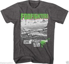 New Adult Foo Fighters Live at Spaceland Soft Charcoal Heather T Shirt S-2XL | eBay