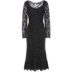 Dolce & Gabbana Embellished Lace and Mesh Gown (€4.880) ❤ liked on Polyvore featuring dresses, gowns, black, lace mesh dress, lace evening dresses, mesh gown, lace ball gown and lace dress