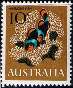 Australia 1966 SG 391 Anemone Fish Fine Mint SG 391 Scott 405 Other Australian Stamps Here