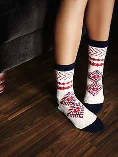Raffel II So Soft Boot Sock | Fuzzy and so-soft patterned boot sock.  A fun printed and cozy style.