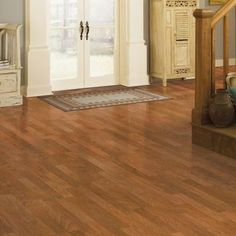 Mohawk suede hickory 3 strip 7 mm thick x 7 1 2 in wide x for Palm floors laminate