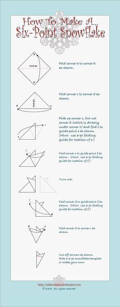 My Snowflake tutorial. For use with my Folding Guide. Christmas Fun, Xmas, Pencil Test, Winter Wonderland, Snowflakes, Festive, Craft Ideas, Crafts, Manualidades