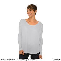 Bella Flowy White Long Sleeve Tee Shirts