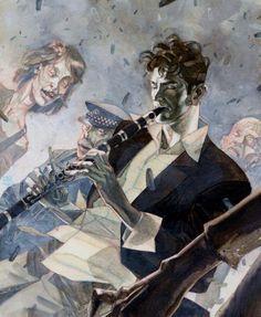 "lospaziobianco: "" Dylan Dog by Davide De Cubellis via Batman by James Kei via Spider-Man Vs. Dylan Dog, Different Art Styles, Art For Art Sake, Illustrations, Comic Artist, Watercolor Illustration, Cool Art, Nice Art, Graphic Art"