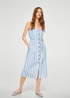 04bb296832b7 Floral print linen-blend dress  CheapestWomensClothingOnlineAustralia Kurze  Kleider, Damen, Button-kleid