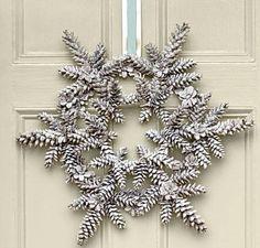 Pinecone Snowflake wreath