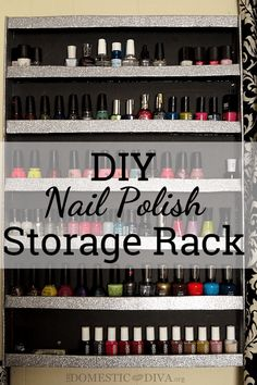 10 minutes 10 and 1 tool diy nail polish rack nails pinterest diy nail polish storage wall rack solutioingenieria Gallery