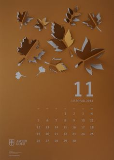 """Cut-Out"" Wall Calendar on Behance"