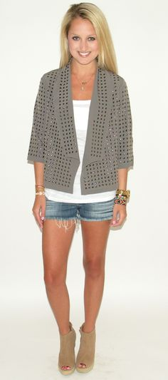 blaque label studded jacket in grey