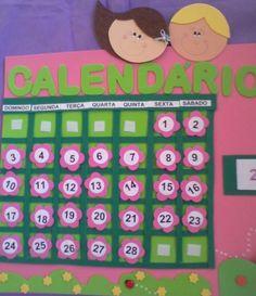 Calendário em eva R$ 30,00