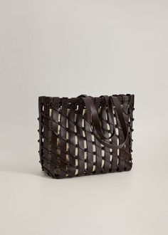 Woven lattice design Interior cotton lining Zip fastening Two short handles Everyday Rings, Lattice Design, Work Tote, Luxe Life, Polished Look, Shopper Bag, Work Wardrobe, Toe Rings, Who What Wear