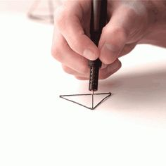 Lix 3D-printing pen allows users to create  solid drawings in the air
