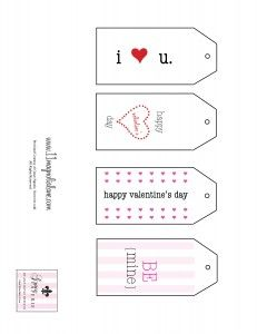 Free printable - Red Valentines Gift Tags