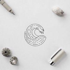 Just a quick minimal wave tattoo idea #illustration #wave #minimal #simple