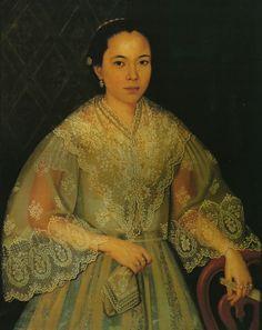 Justiniano Asunción, Portrait of Agueda Paterno, circa 1860, Jaime Laya collection.