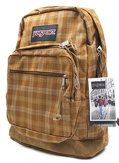 JanSport Classic SuperBreak Backpack (Craftman Brown/Vintage Plaid) *** Discover this special product, click the image : Camping Gear Trendy Backpacks, Vintage Backpacks, Girl Backpacks, School Backpacks, Mochila Jansport, Jansport Backpack, Backpack Bags, Mochila Hippie, Backpack With Pins