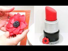 Giant Lipstick Make Up Cake Birthday Cake Idea - YouTube