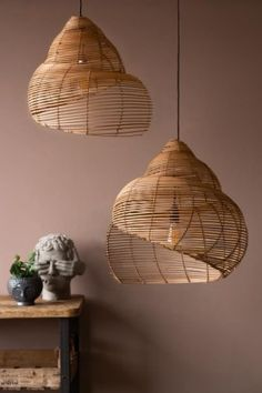 Made from rattan in a spiral shell shape this ceiling light will easily become the focal point of a room. Available in 2 sizes, shop the pendant light here. Rattan Pendant Light, Ceiling Pendant, Pendant Lamp, Pendant Lights, Types Of Lighting, Unique Lighting, Children's Lighting, Kitchen Lighting, Room Lights
