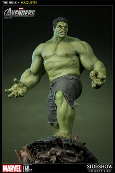 Sideshow Collectibles is proud to partner with Legacy Effects to bring you the Hulk Maquette, from the smash hit, The Avengers. Designed by Marvel and Co-developed with Legacy, the renowned special effects studio, bring actor Mark Ruffalos dramatic transformation from the mild mannered Dr. Bruce Banner, into the most formidable member of the Avengers team, the Hulk. Crafted in 1:4 scale with remarkable attention to detail, this incredible maquette stands over two feet tall $649.99