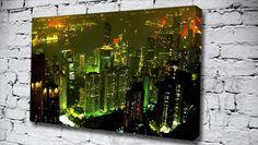 Hong Kong Bay Green city canvas from only £14.99 at Canvas Art Print http://www.canvasartprint.co.uk/products/HONG-KONG-BAY-GREEN-438750.aspx