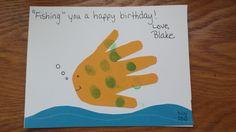 Fish handprint