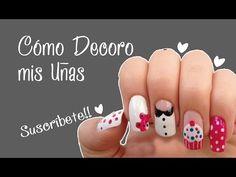 CÓMO DECORAR MIS UÑAS #1 - Naila Londoño - YouTube
